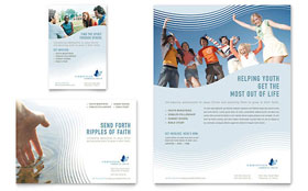 Christian Ministry Flyer - Word Template & Publisher Template