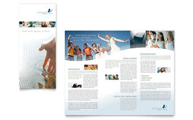Christian Ministry Tri Fold Brochure - Microsoft Office Template