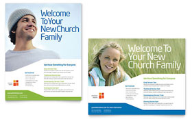 Church Youth Ministry Poster - Word Template & Publisher Template