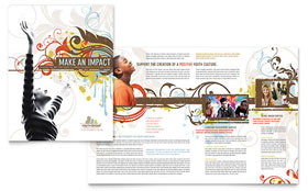 Church Ministry & Youth Group Brochure - Word Template & Publisher Template