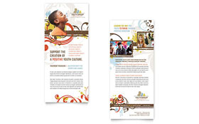 Church Ministry & Youth Group Rack Card - Word Template & Publisher Template