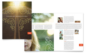 Christian Church Religious Brochure - Microsoft Office Template