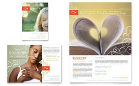 Christian Church Flyer & Ad - Word Template & Publisher Template