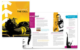 Church Outreach Ministries Brochure - Microsoft Office Template