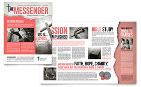 Bible Church Newsletter - Word Template & Publisher Template