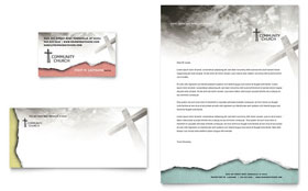Bible Church Business Card & Letterhead - Word Template & Publisher Template