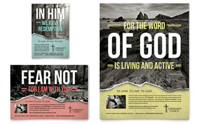 Bible Church Flyer & Ad - Word Template & Publisher Template