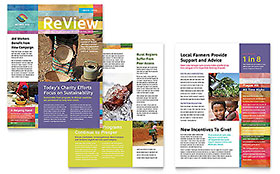 Humanitarian Aid Organization Newsletter - Word Template & Publisher Template