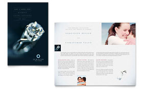 Jeweler & Jewelry Store Brochure - Word Template & Publisher Template