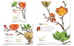 Flower Shop Flyer & Ad - Microsoft Office Template