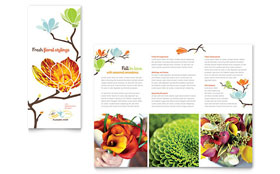 Flower Shop Tri Fold Brochure - Word Template & Publisher Template