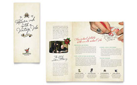 Body Art & Tattoo Artist Brochure - Word Template & Publisher Template