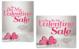 Valentine Sale Poster Template