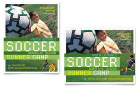 Soccer Sports Camp Poster - Microsoft Office Template