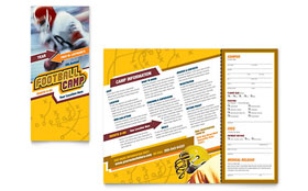Football Sports Camp Brochure - Microsoft Office Template