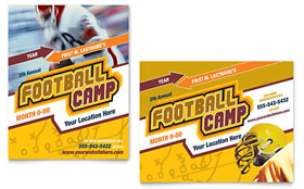 Football Sports Camp Poster - Word Template & Publisher Template