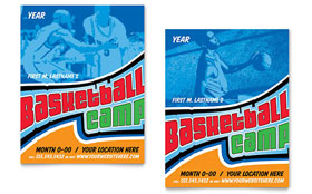 Basketball Sports Camp - Poster Template