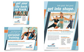Health & Fitness Gym Flyer & Ad - Microsoft Office Template