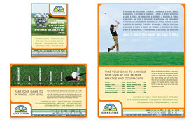 Golf Instructor & Course Ad - Word Template & Publisher Template