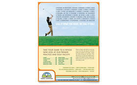 Golf Instructor & Course - Flyer Template