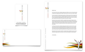 Karate & Martial Arts Business Card & Letterhead - Microsoft Office Template