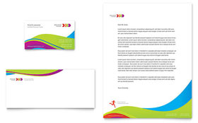 Personal Trainer Business Card & Letterhead - Microsoft Office Template