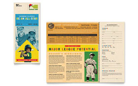 sports brochure templates - baseball sports camp flyer template word publisher