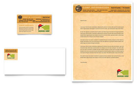 Baseball Sports Camp Business Card & Letterhead - Microsoft Office Template