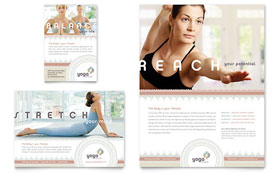 Pilates & Yoga Ad Template