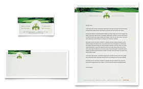 Golf Course & Instruction Business Card & Letterhead - Microsoft Office Template