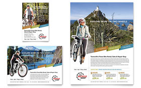 Bike Rentals & Mountain Biking Flyer - Word Template & Publisher Template