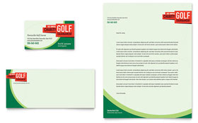 Golf Tournament Letterhead - Word Template & Publisher Template