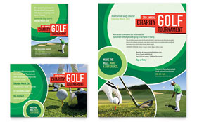 Golf Tournament Ad - Word Template & Publisher Template