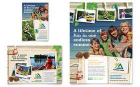 Kids Summer Camp - Flyer & Ad Template