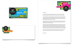 Strength Training Business Card & Letterhead - Microsoft Office Template