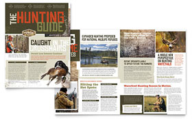 Hunting Guide Newsletter - Word Template & Publisher Template