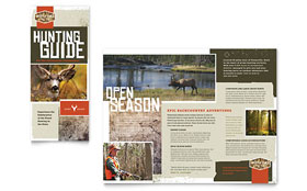 Hunting Guide Tri Fold Brochure - Word Template & Publisher Template