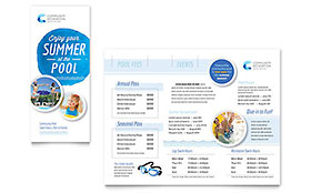 Community Swimming Pool Brochure - Microsoft Office Template