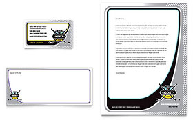 Junior Hockey Camp Business Card & Letterhead - Word & Publisher Template