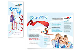 Gymnastics Academy Brochure - Word & Publisher Template