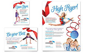 Gymnastics Academy Ad - Word Template & Publisher Template