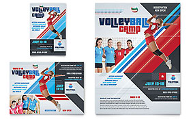 Volleyball Camp Ad - Word Template & Publisher Template