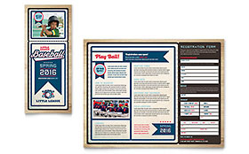 Baseball League Brochure - Office Template
