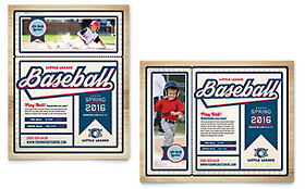 Baseball League Poster - Word Template & Publisher Template