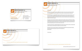 Computer Consulting Company - Business Card & Letterhead Template