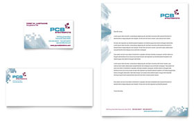 High-Tech Manufacturing - Business Card & Letterhead Template