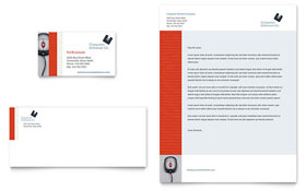 Computer Software Company Business Card & Letterhead - Word & Publisher Template