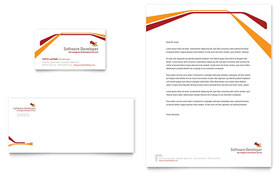 Software Developer Letterhead - Word Template & Publisher Template