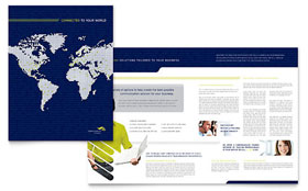 Global Communications Company Brochure - Microsoft Office Template