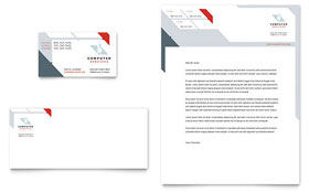 Computer Solutions Letterhead - Word Template & Publisher Template